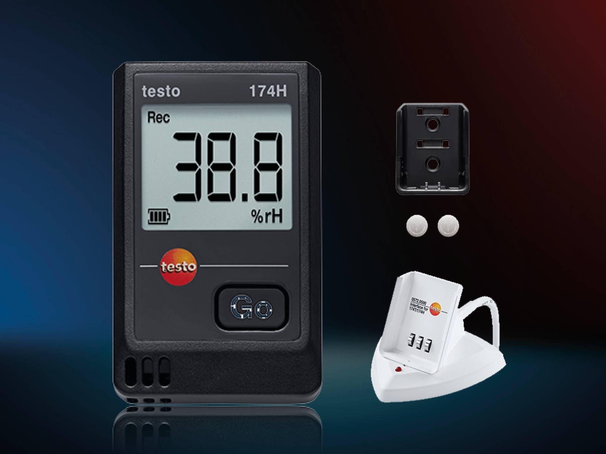 testo 174H 迷你温湿度记录仪套装