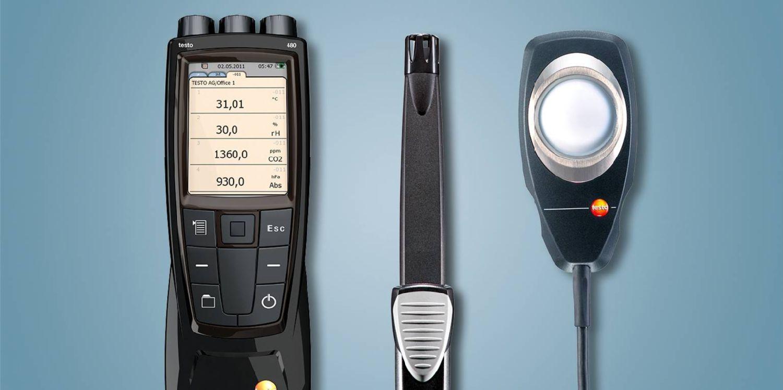 Behaglichkeitsmessung CO2 / Lux mit testo 480