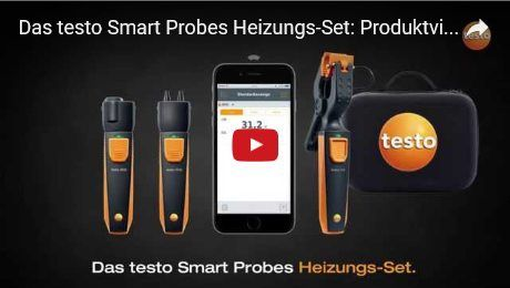 Das testo Smart Probes Heizungs-Set