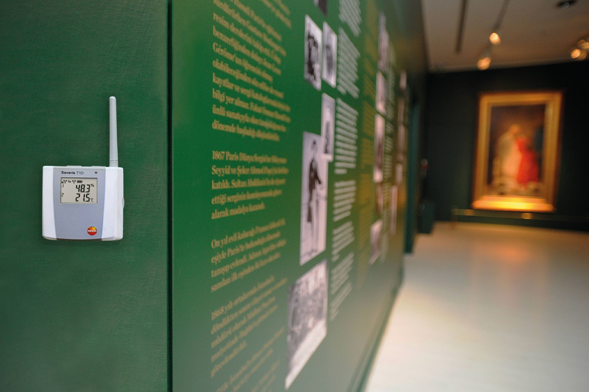 Temperature monitoring in a museum