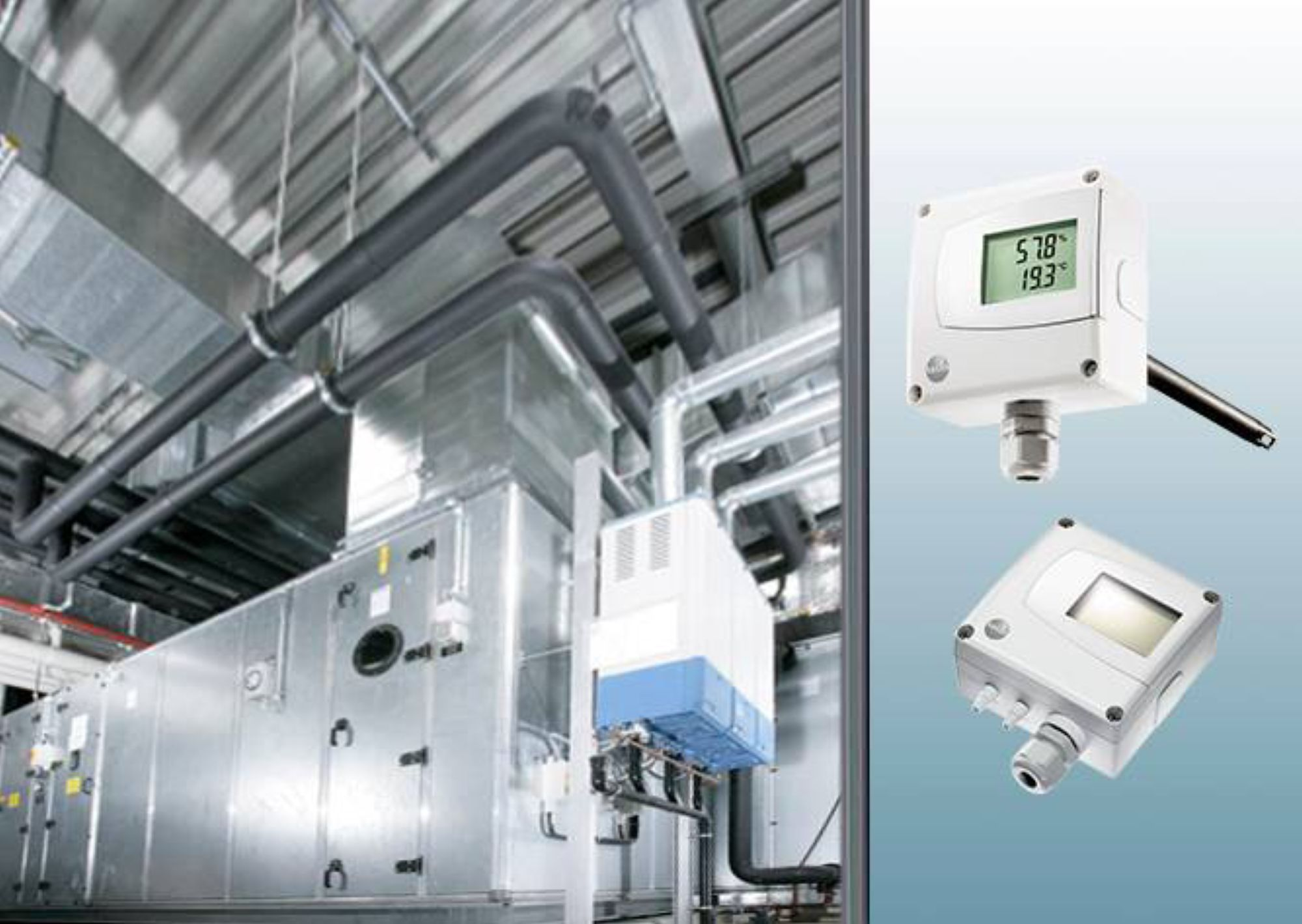 Pressure transmitter  in the field of air conditioning technology