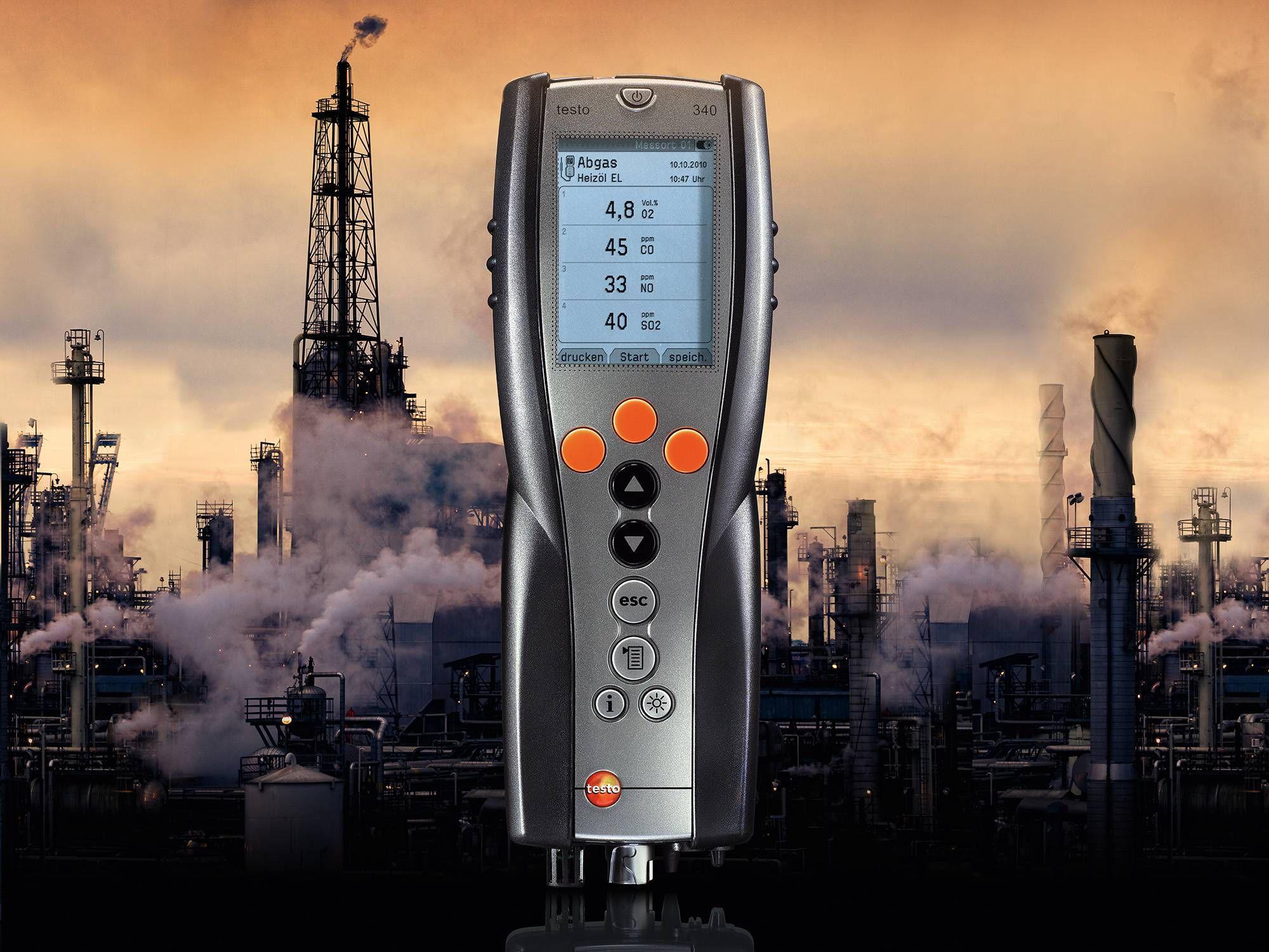 El analizador de combustión testo 340