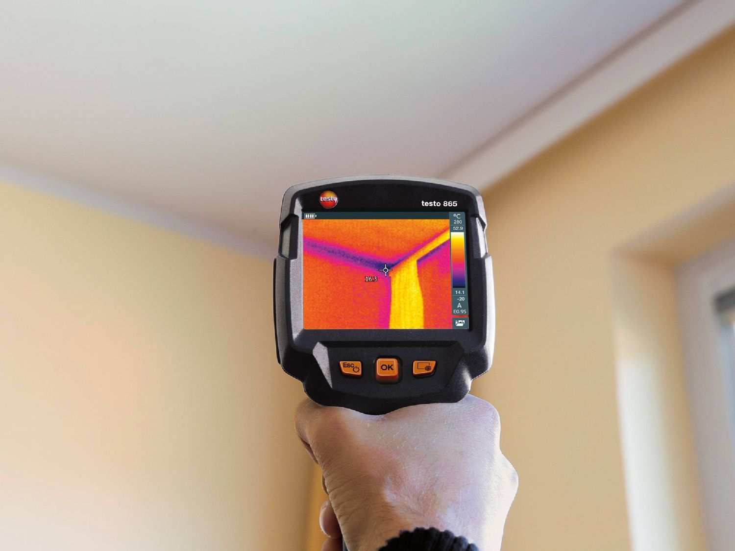 Mould risk detection with thermography