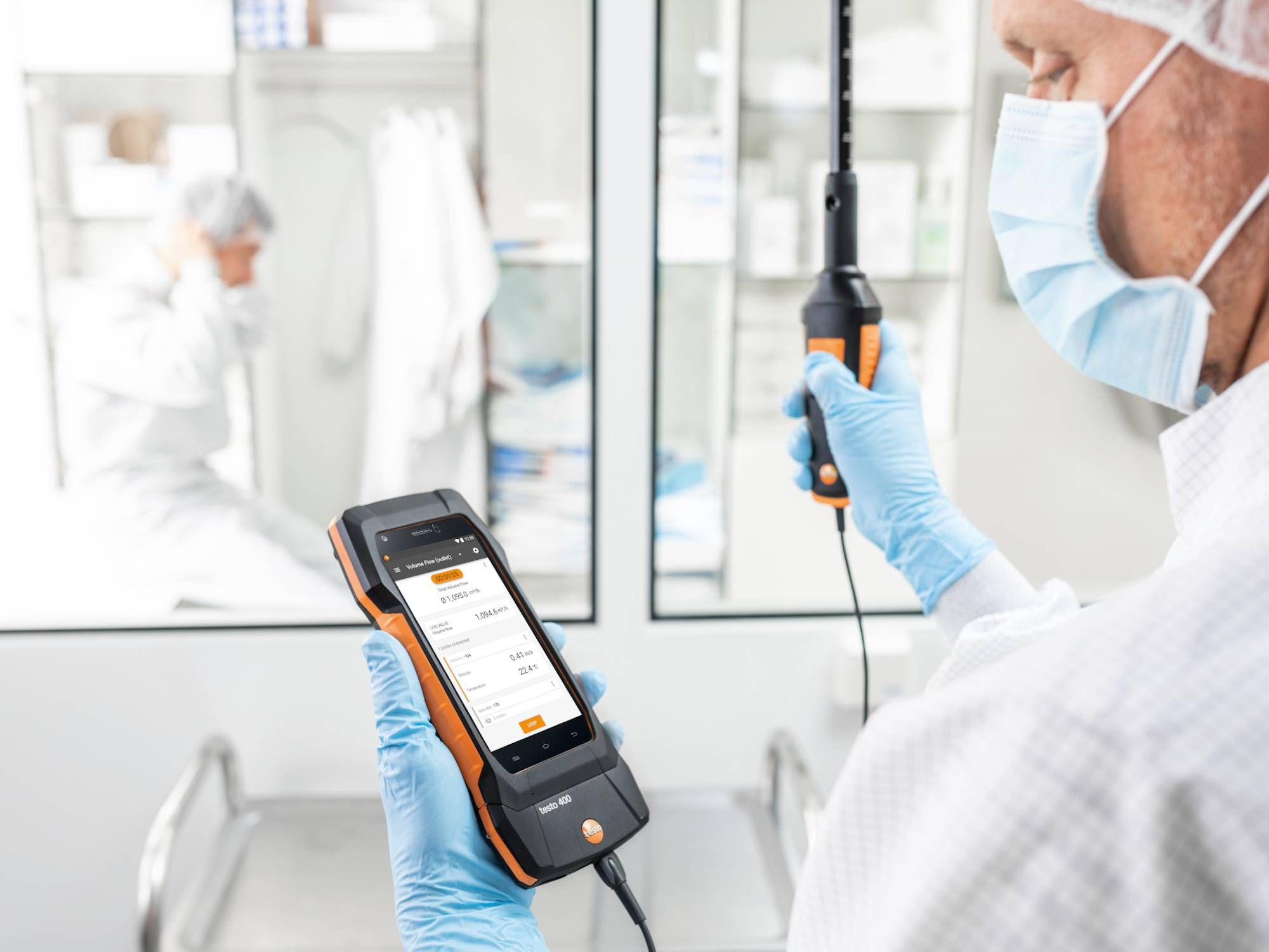 testo 400智能型参比级环境测量仪搭配高精度温湿度探头