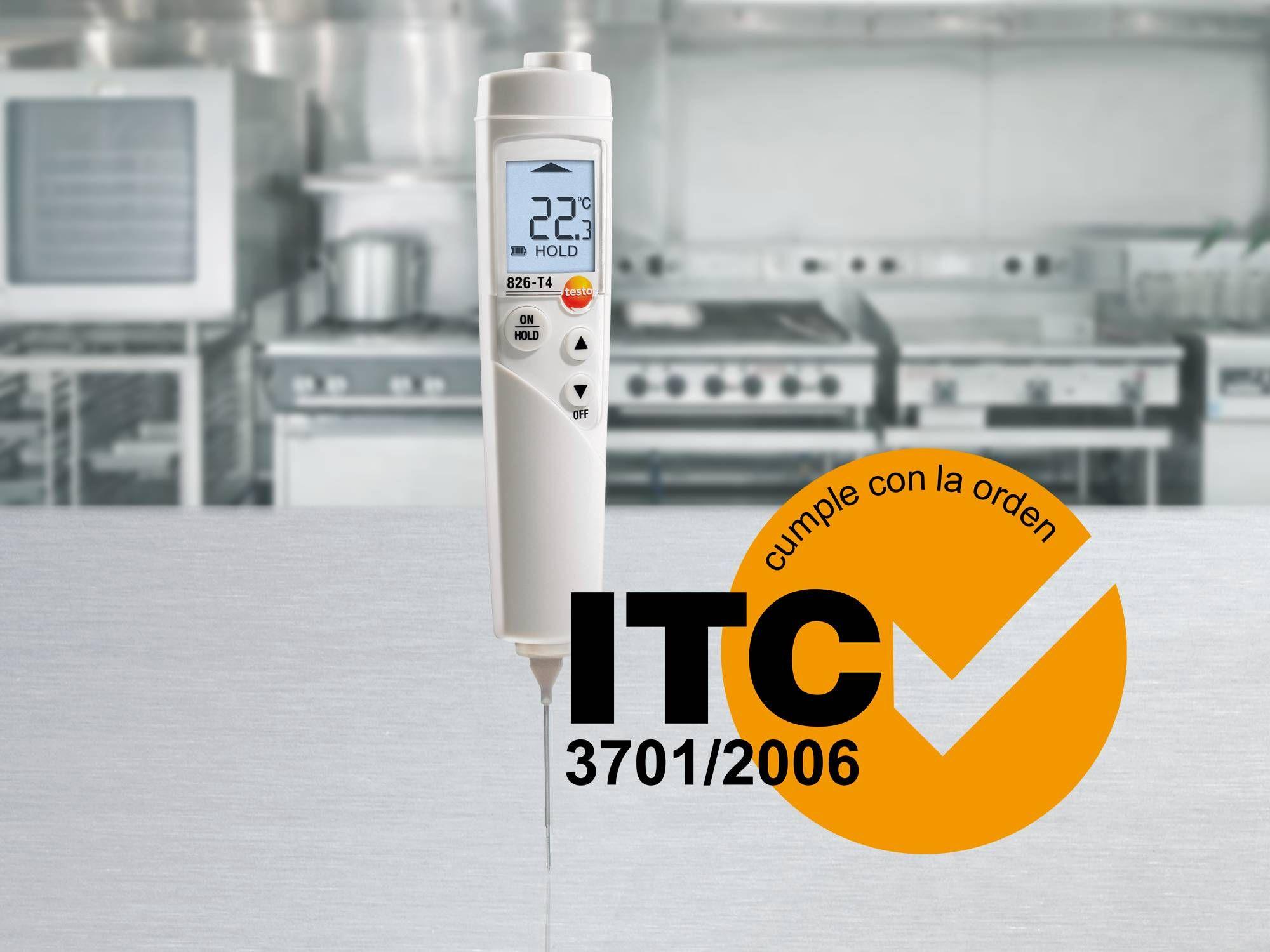 El testo 826-T4 cumple con la ITC