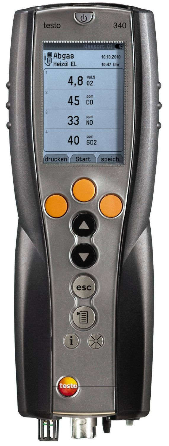testo 340 emissie analyzer