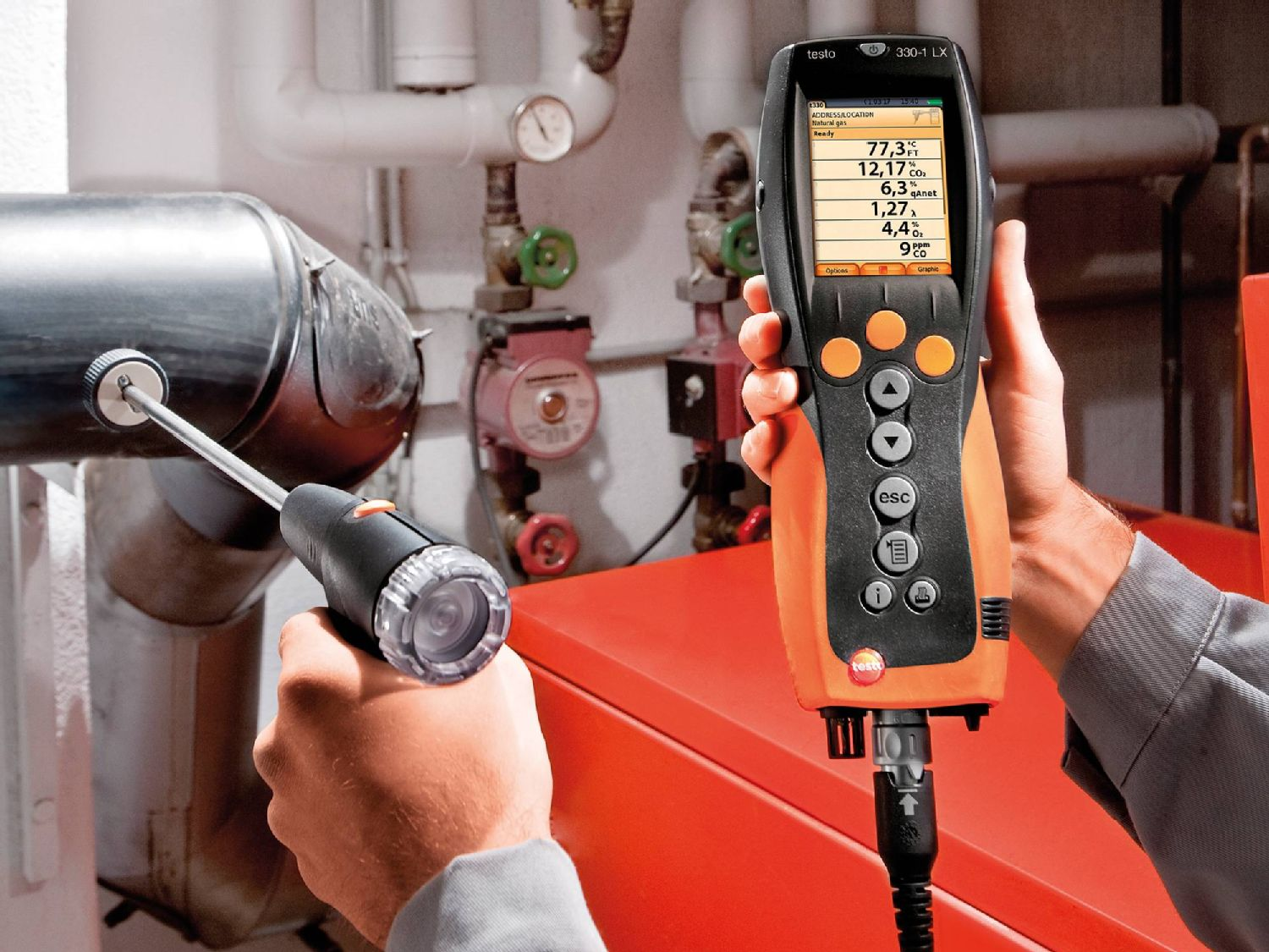 Flue gas analyzer testo 330-2 LX