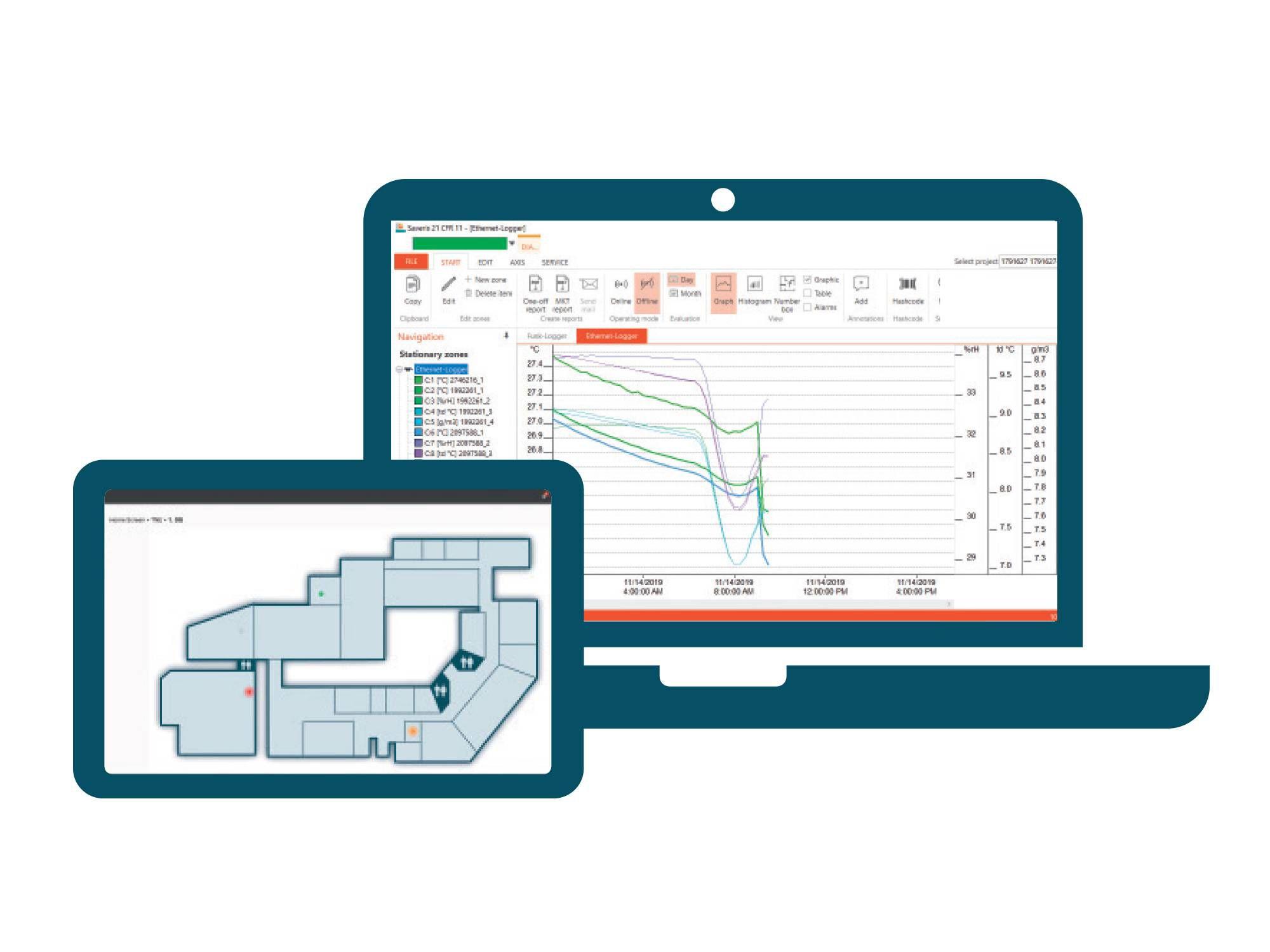 testo Saveris 生命科学环境监测系统——软件
