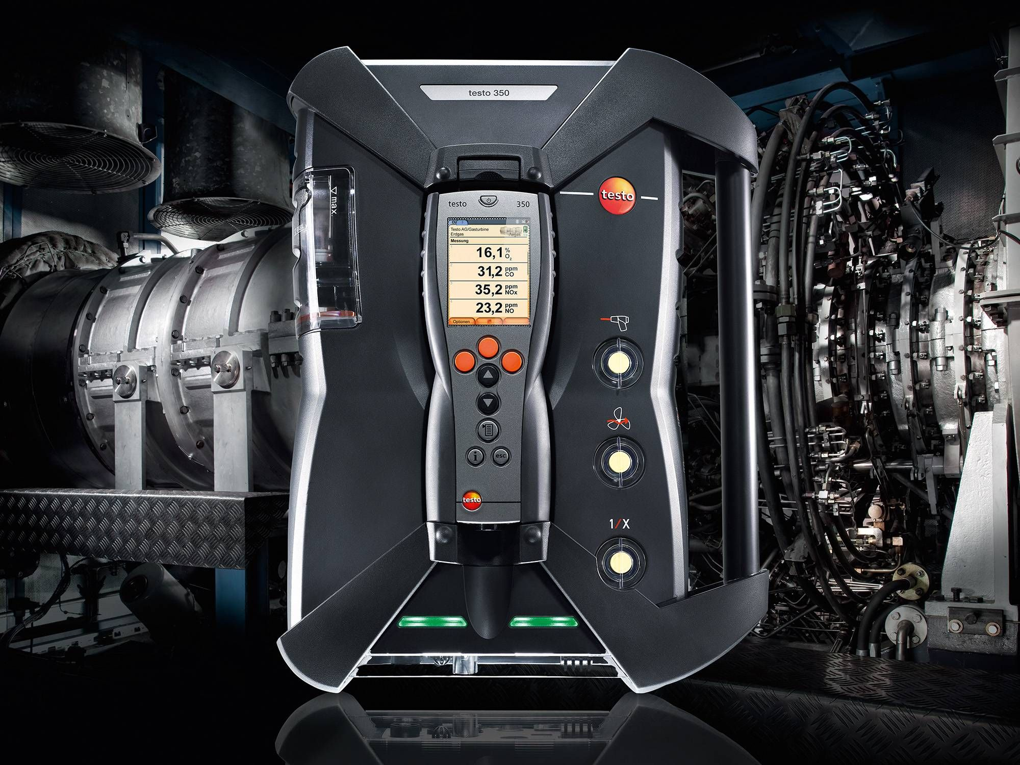Testo CHP 350 for emission measuring