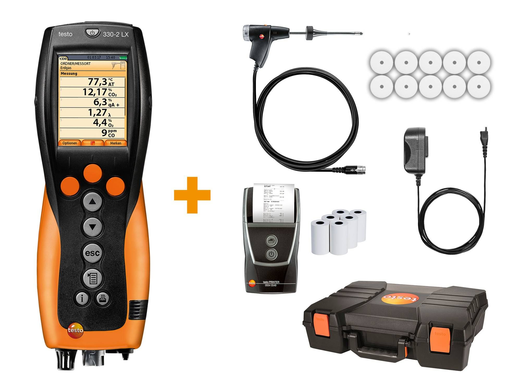 Analyseur de combustion testo 330-2 LX