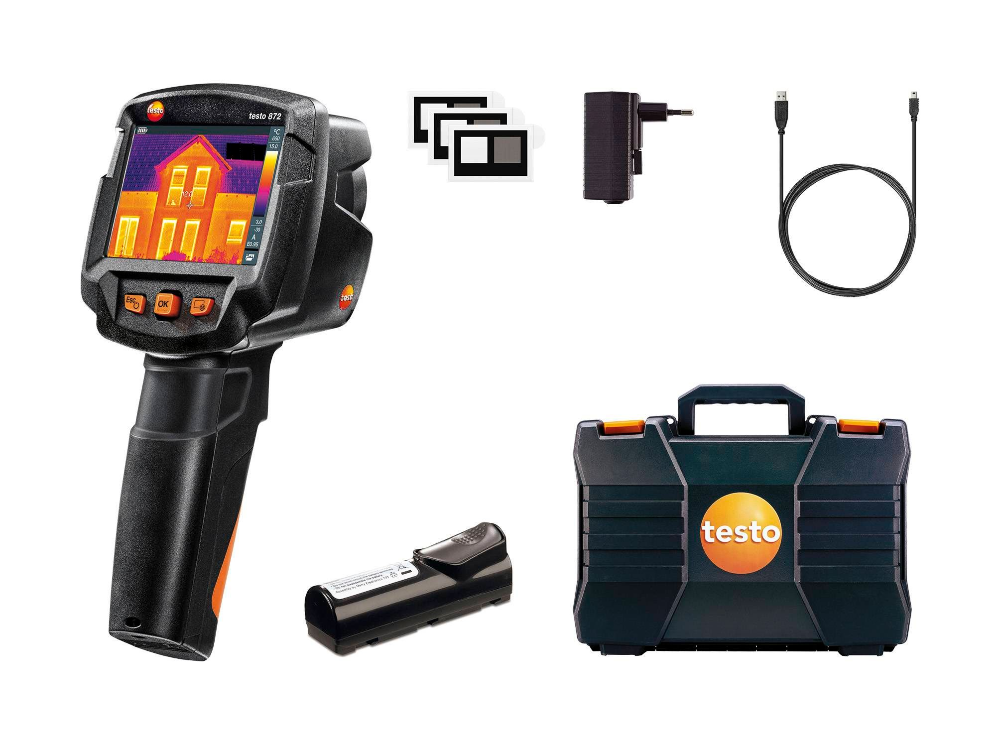 testo 872 - thermal imager with App - Delivery scope