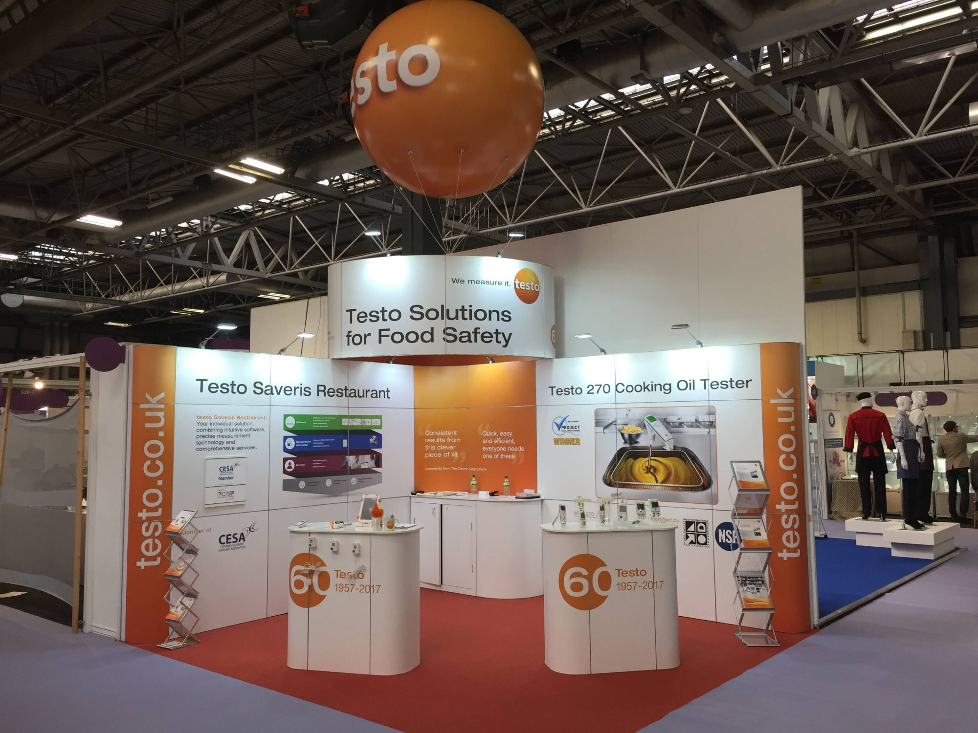 Exhibition Stand Kitchen : Exhibitions and events testo ltd