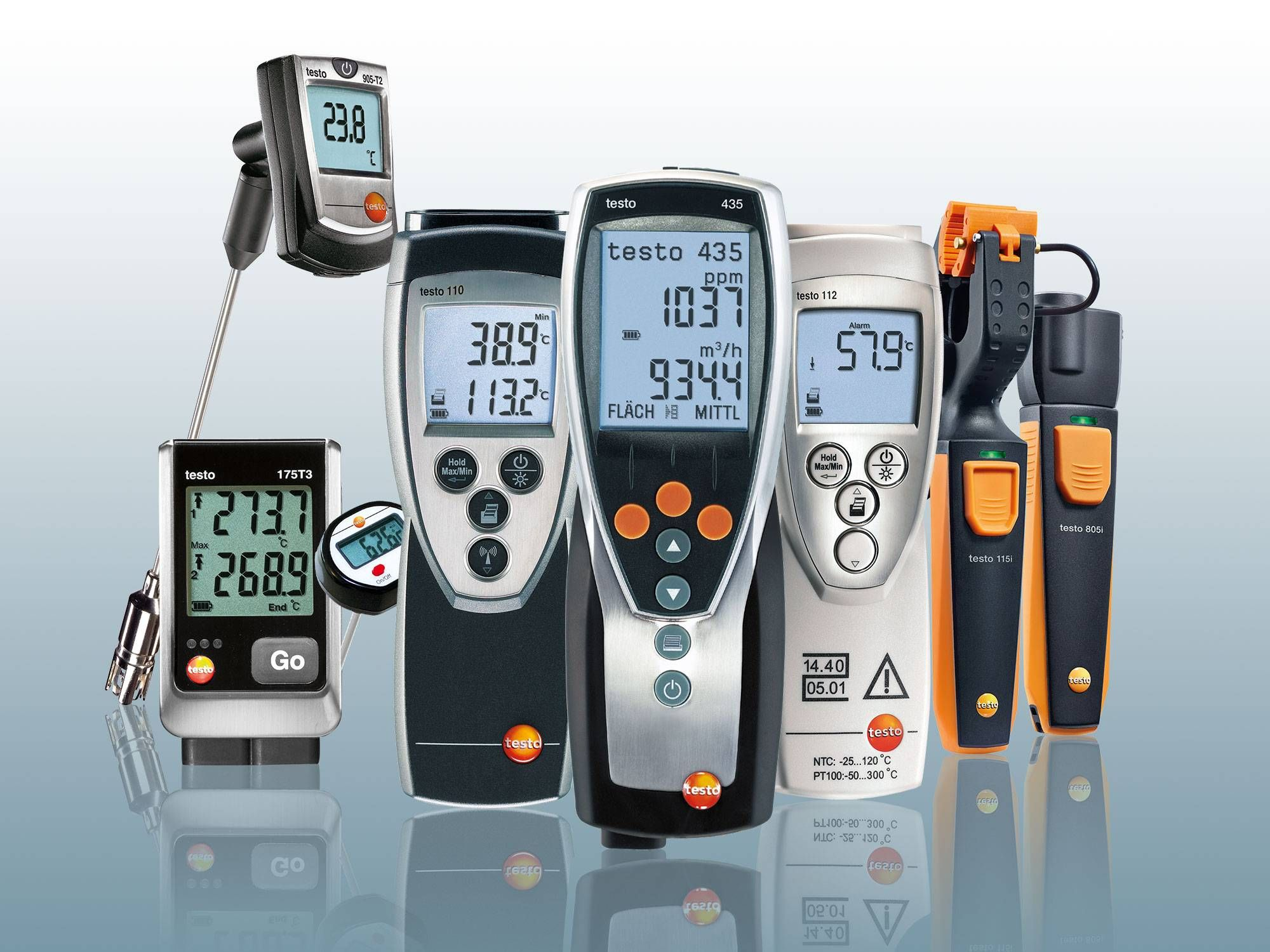 Testo surface thermometers