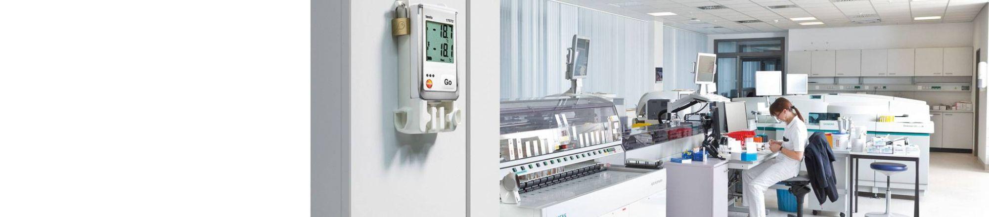 Medición de <strong>temperatura</strong> en laboratorios