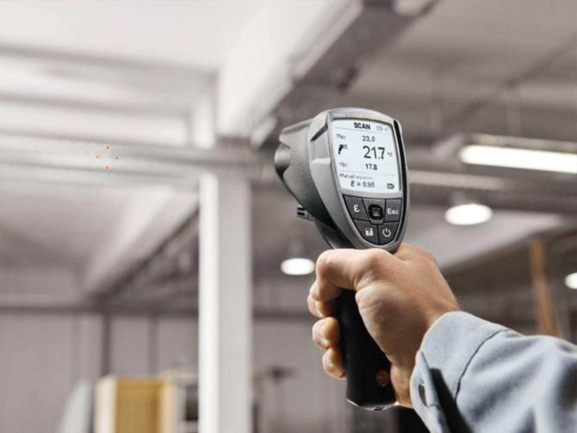 红外测温仪采用非接触式测温方式