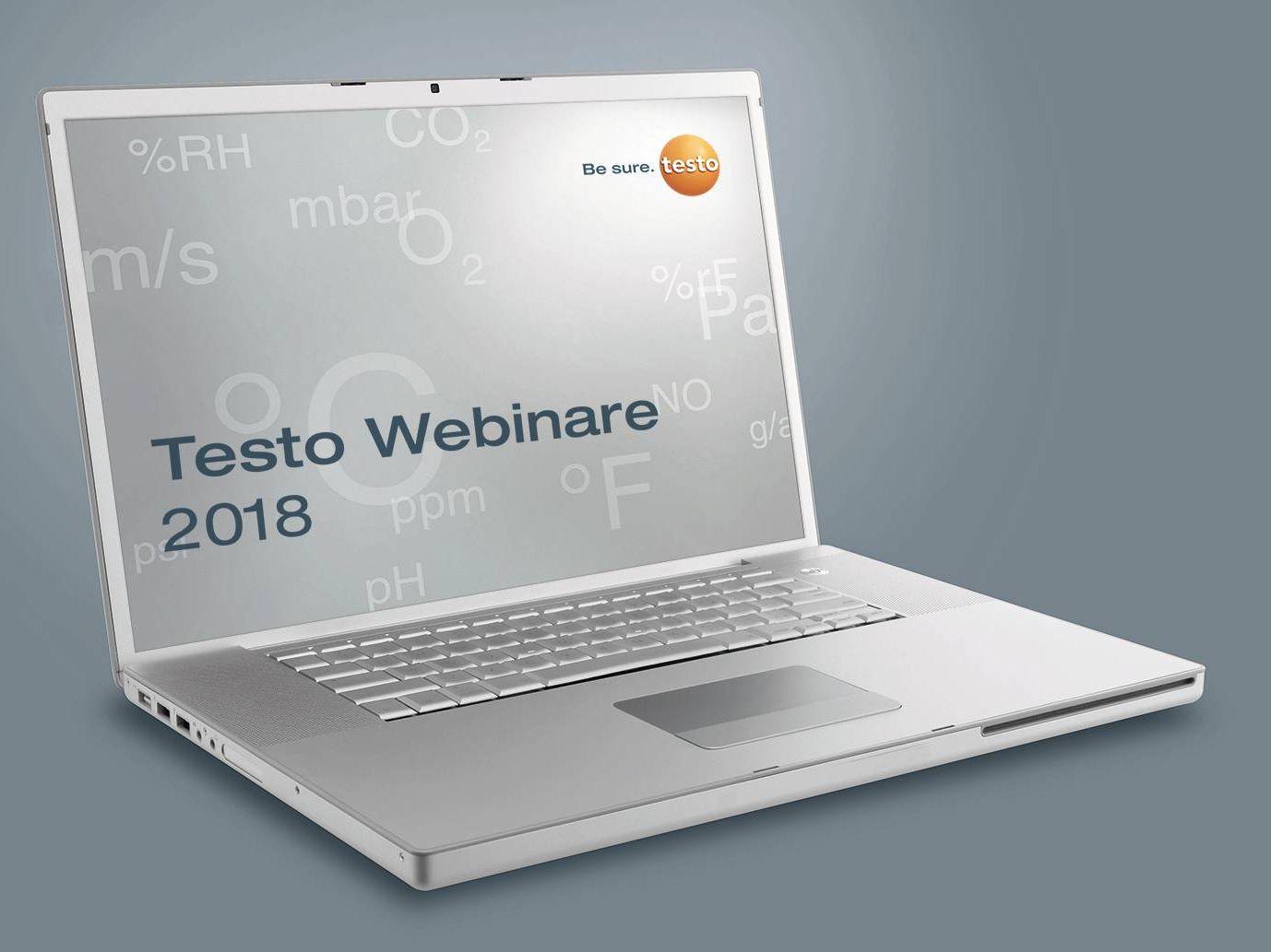 Testo Webinarprogramm SHK, Industrie, Pharma