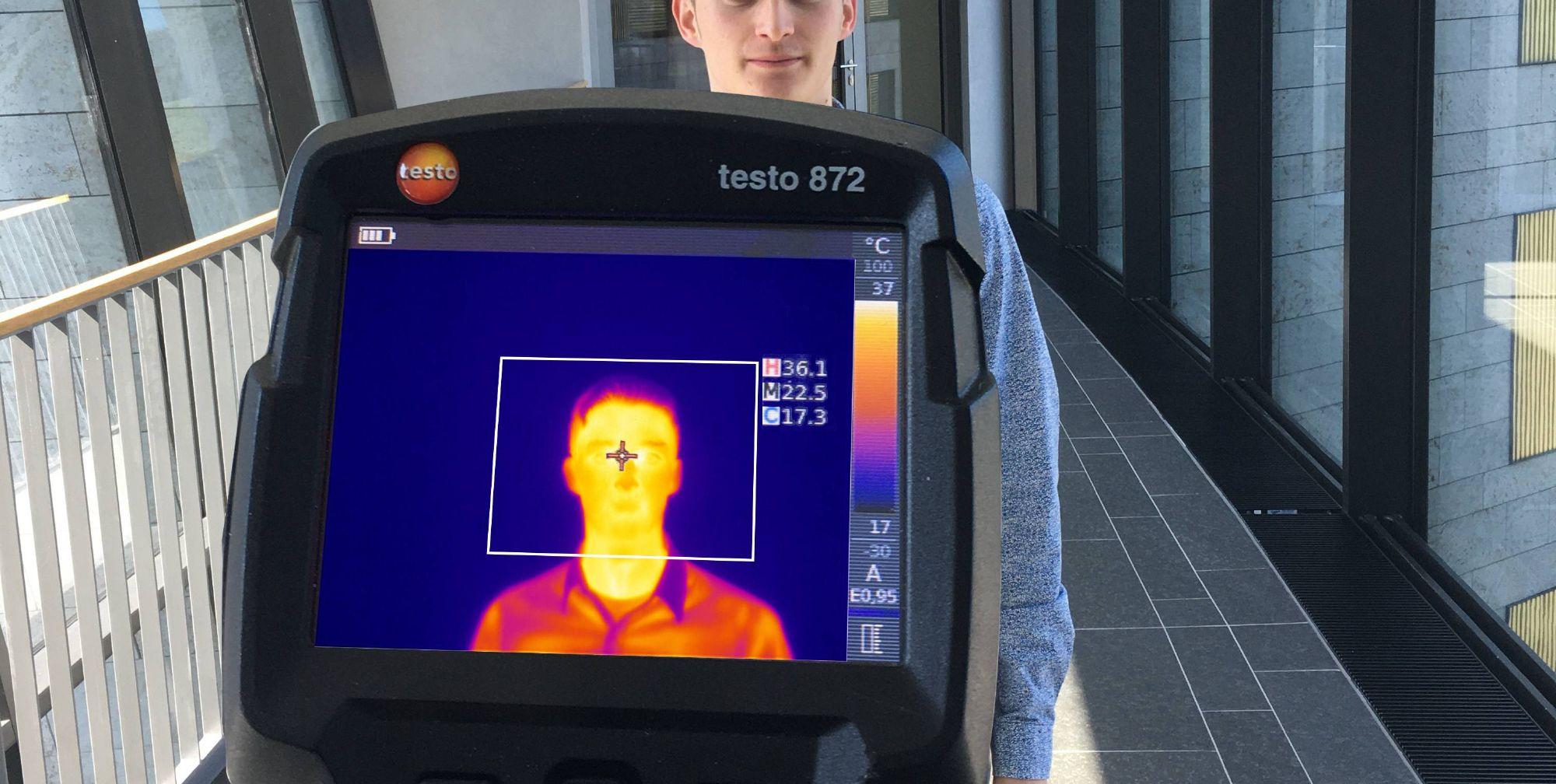 德图重点开发了一款最新体表温度筛检FD版软件。加载于德图中端红外热像仪testo 868/871/872。