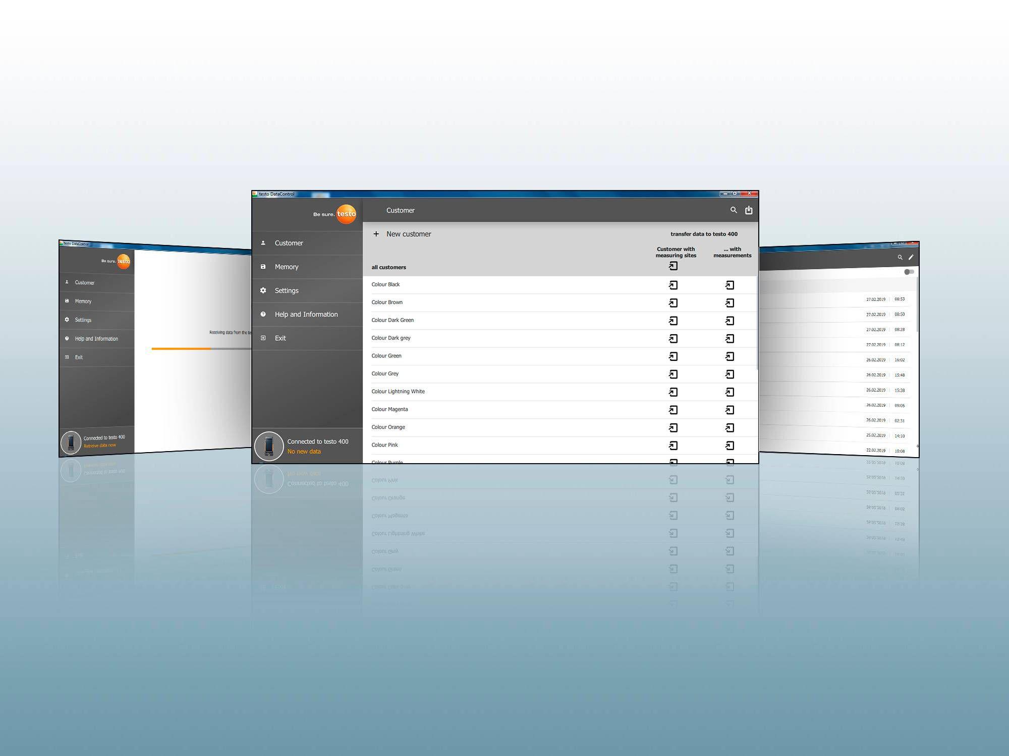 PC software testo DataControl