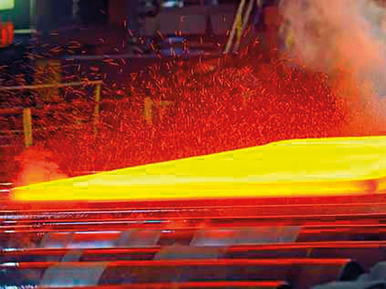 新生产的钢材