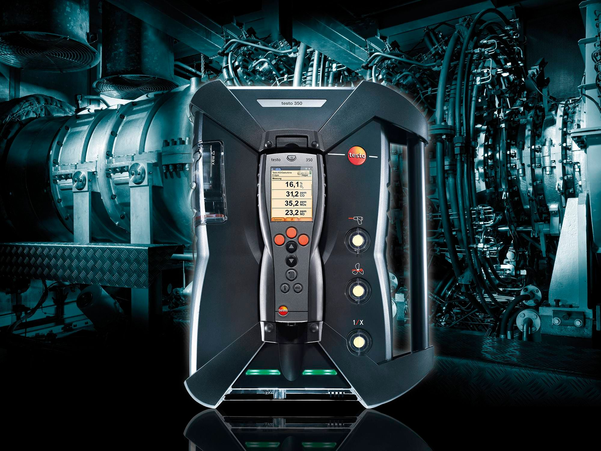Emission analyzer testo 350: Ideal for gas turbines