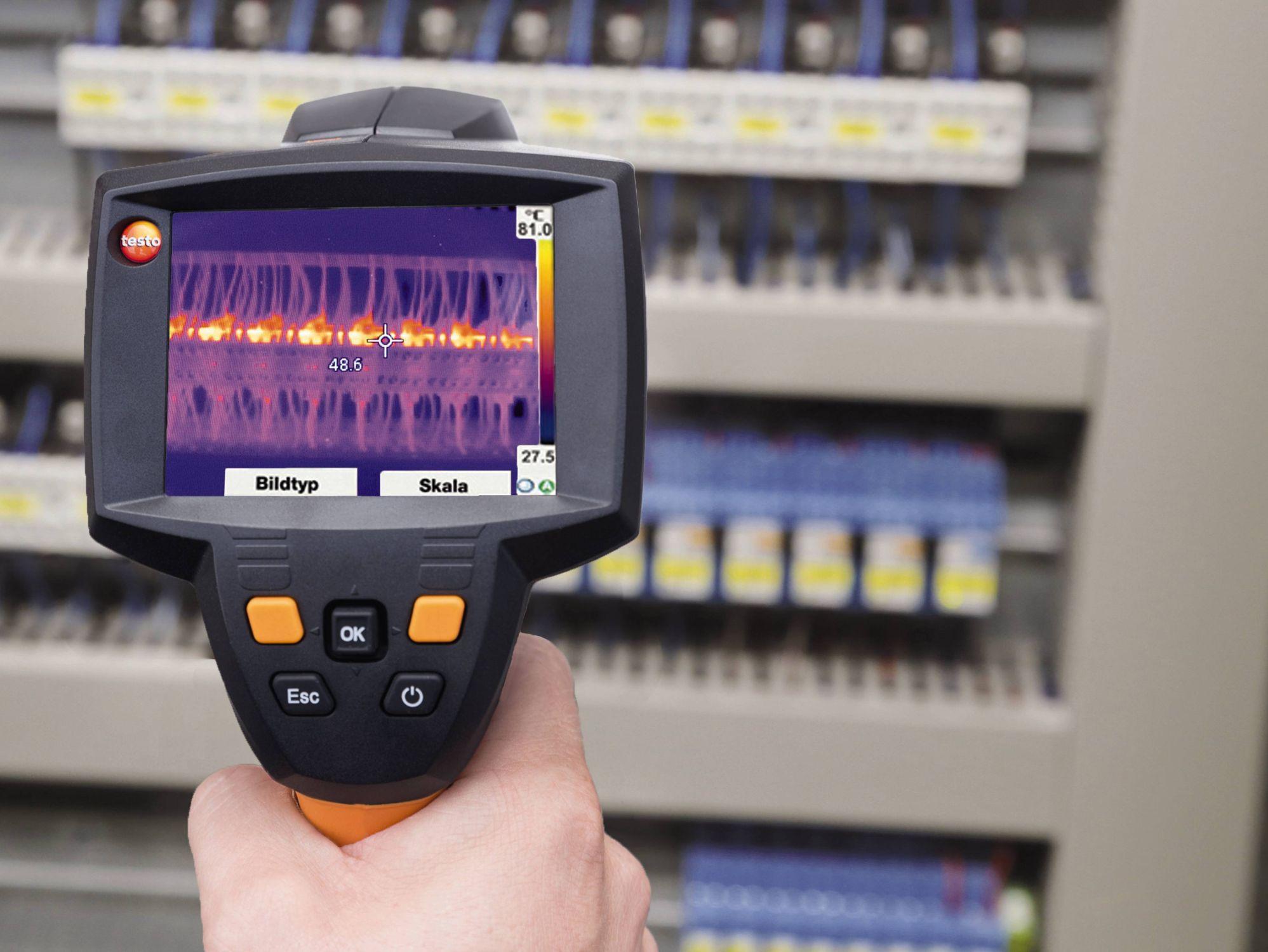 電気設備や配管の熱漏れ、保全診断用サーモグラフィー