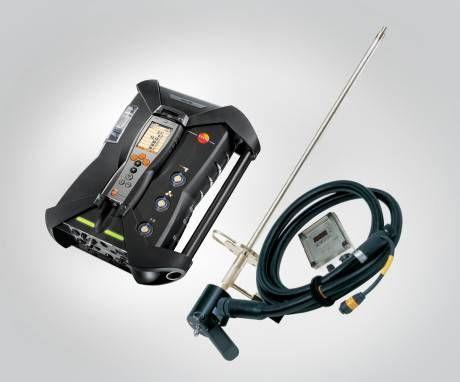 德图加热解决方案,即 testo 烟气分析仪配备 testo 全加热采样系统,其中含热采样管、加热手柄以及全加热采样软管。