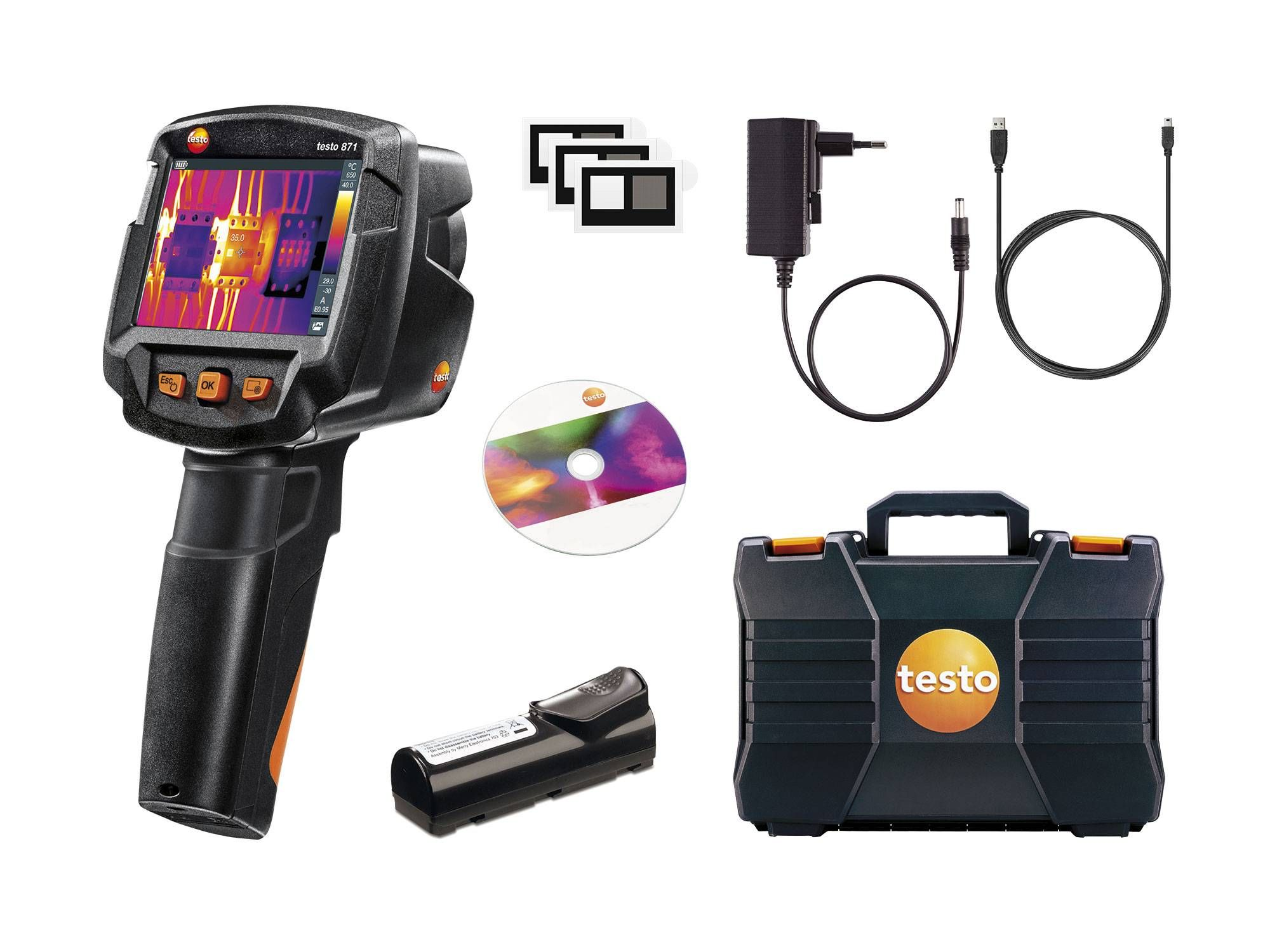 testo 871 - thermal imager with App - Delivery scope
