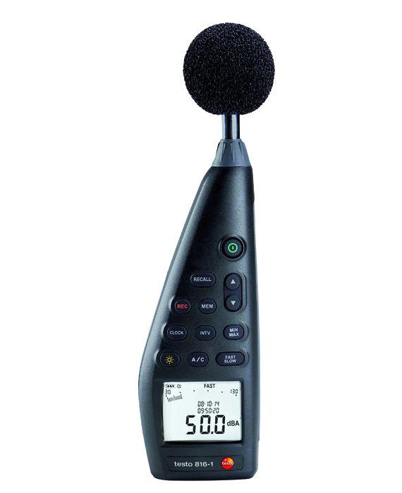 Das Schallpegelmessgerät testo 816-1