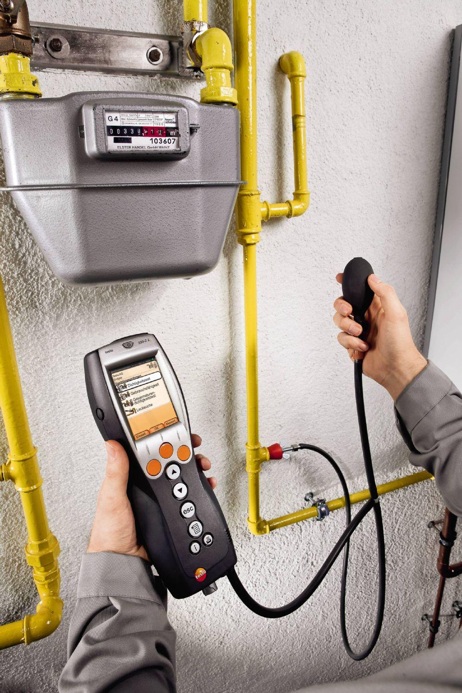 testo 330LL可外接燃气管道测试组件,由堵头、三通气路管和气囊组成