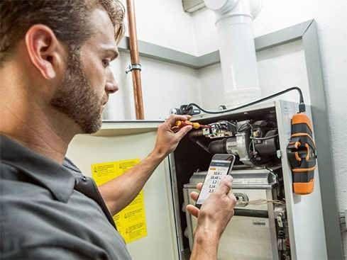 Testo exhaust gas analyzer