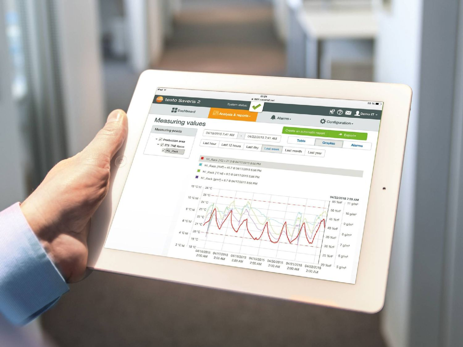 Monitoring indoor climate in facility management