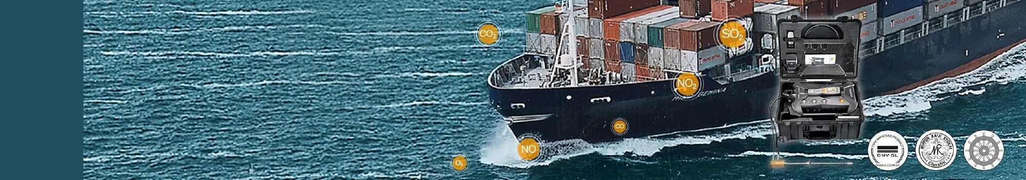 <b>船用柴油发动机</b>废气排放 </br>船用 testo 350