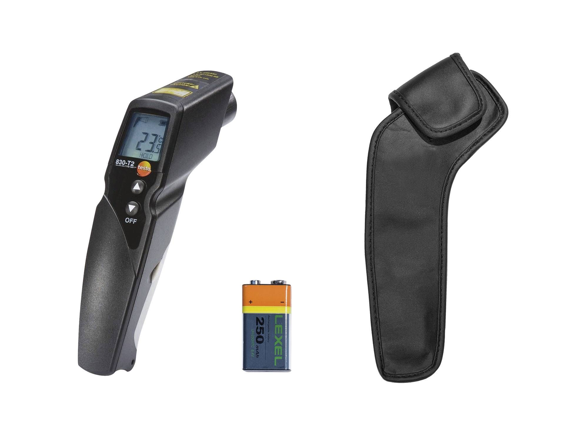 Infrared thermometer testo 830-T2 kit - delivery scope