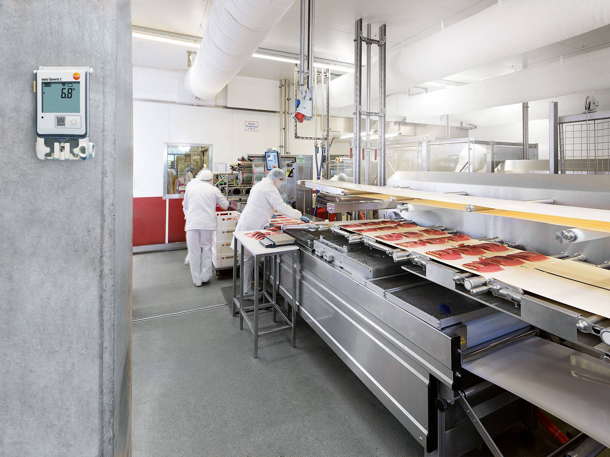Temperature monitoring in food industry