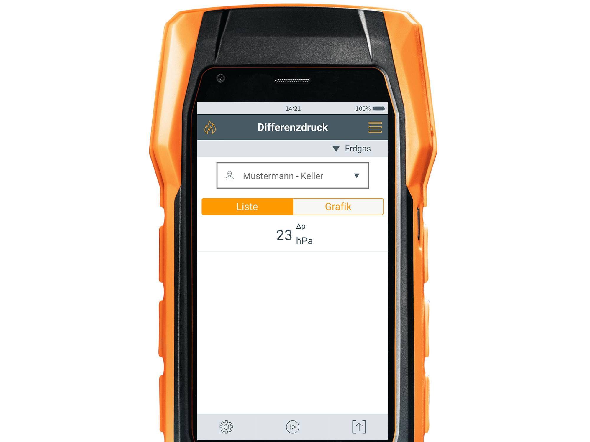 Differenzdruck Messung Abgasmessgerät testo 300