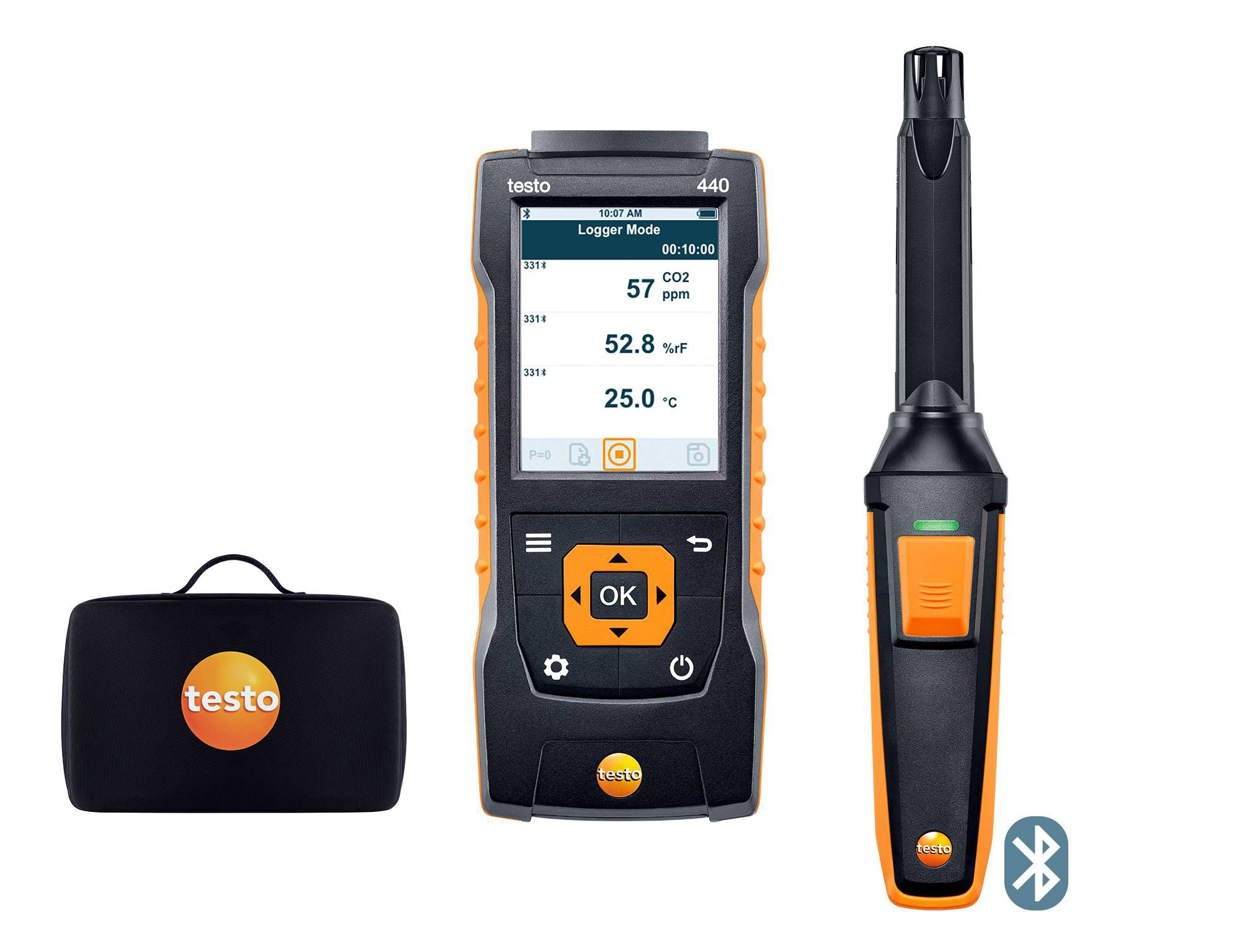 Set de CO2 testo 440 con Bluetooth®