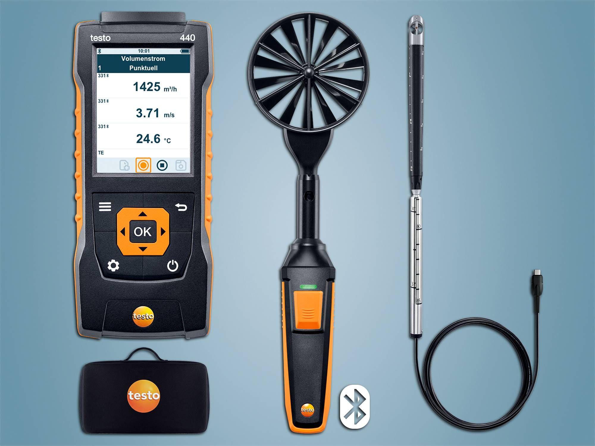 testo 440 Strömungs-KombiSet 2 mit Bluetooth
