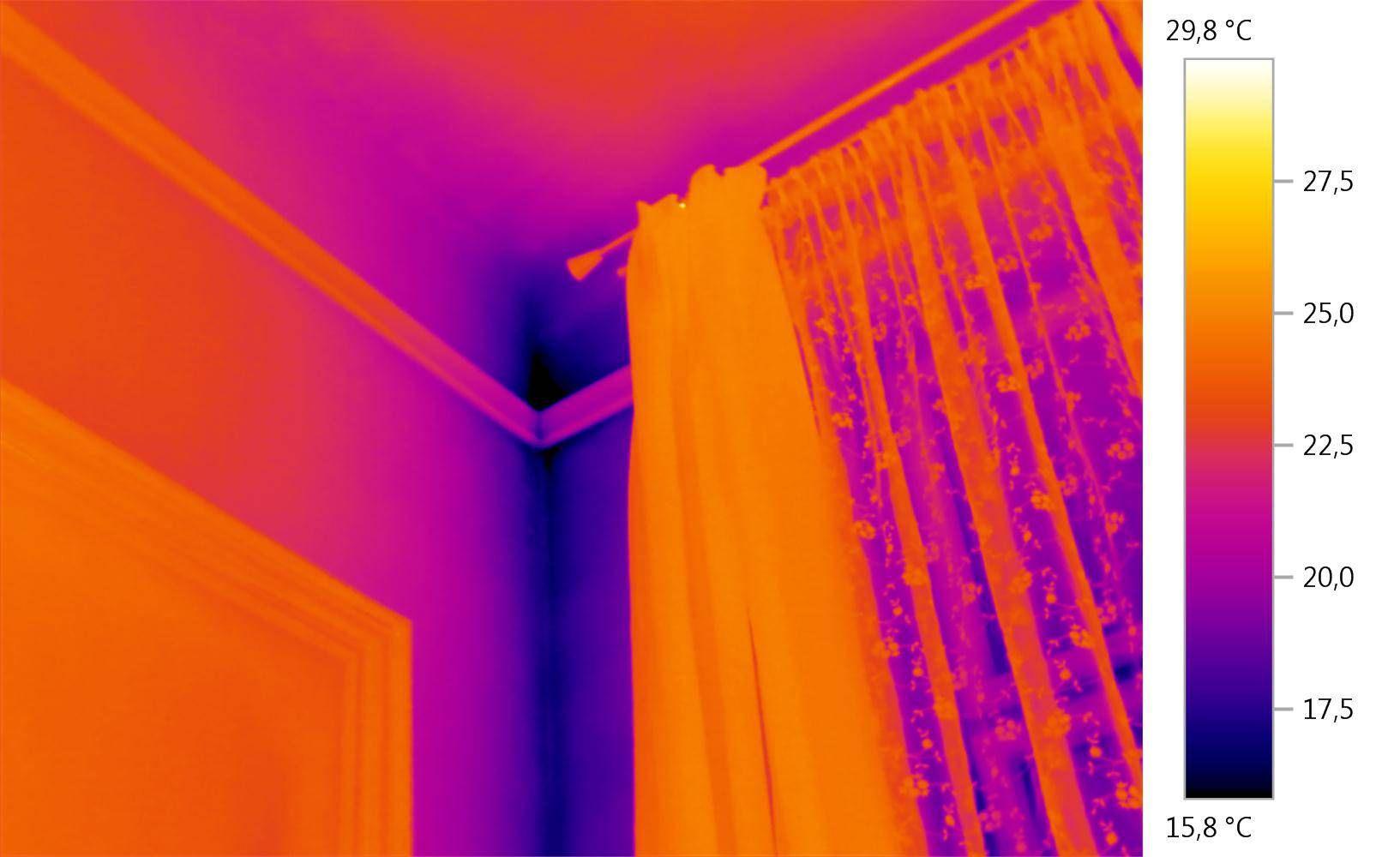 Testo Wärmebildkameras - Feuchte detektieren