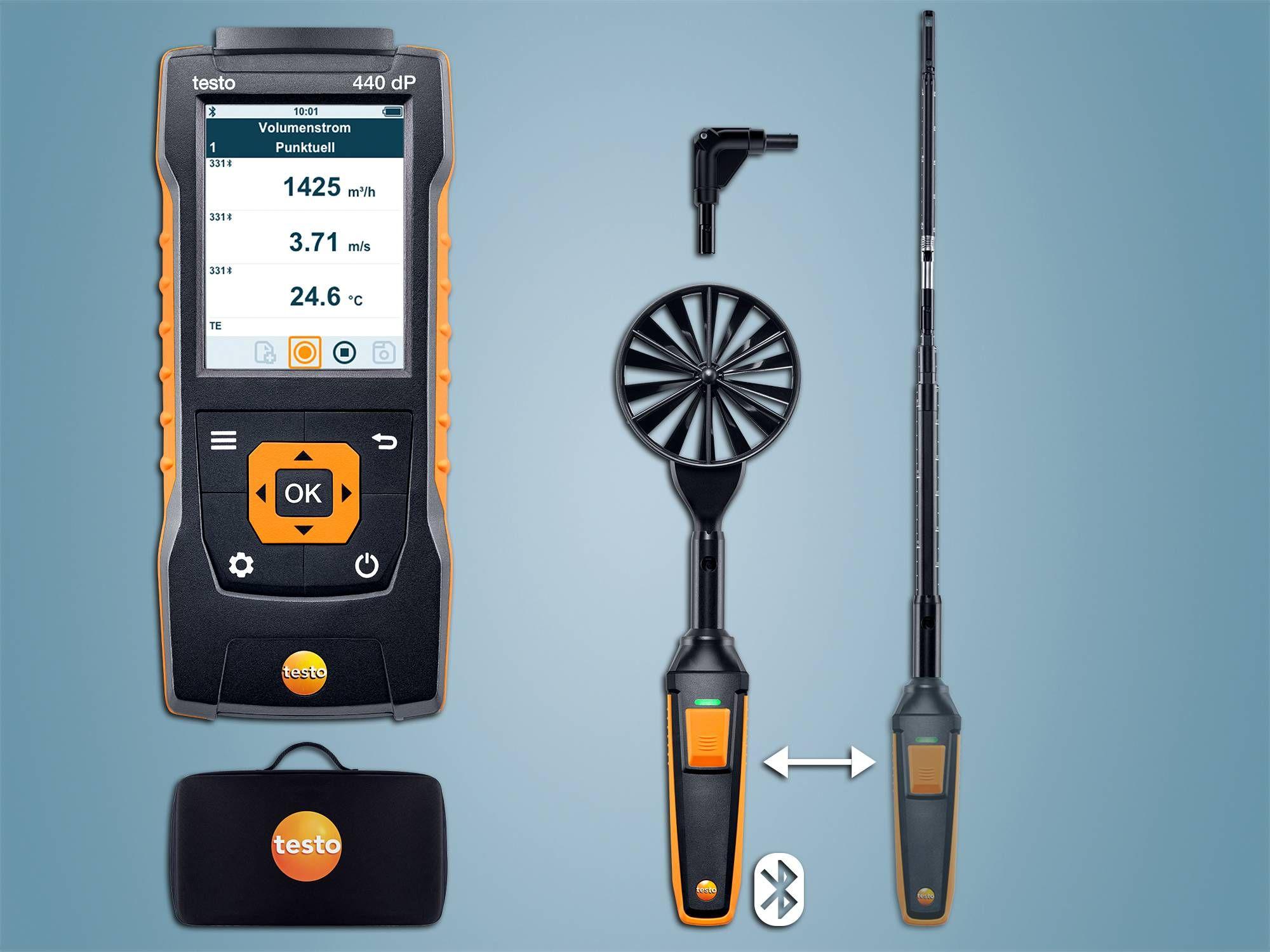 testo 440 dP Strömungs-KombiSet 1 mit Bluetooth