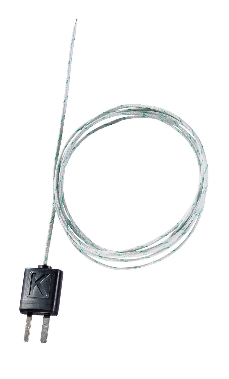 Thermocouple isolé, soie de verre, flexible, long. 1500 mm