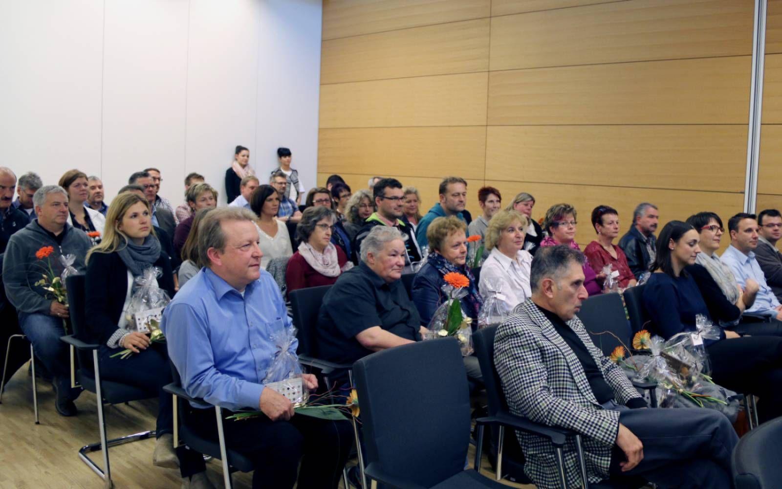 In einer Feier dankte der Vorstand der Testo AG seinen langjährigen Mitarbeitern.