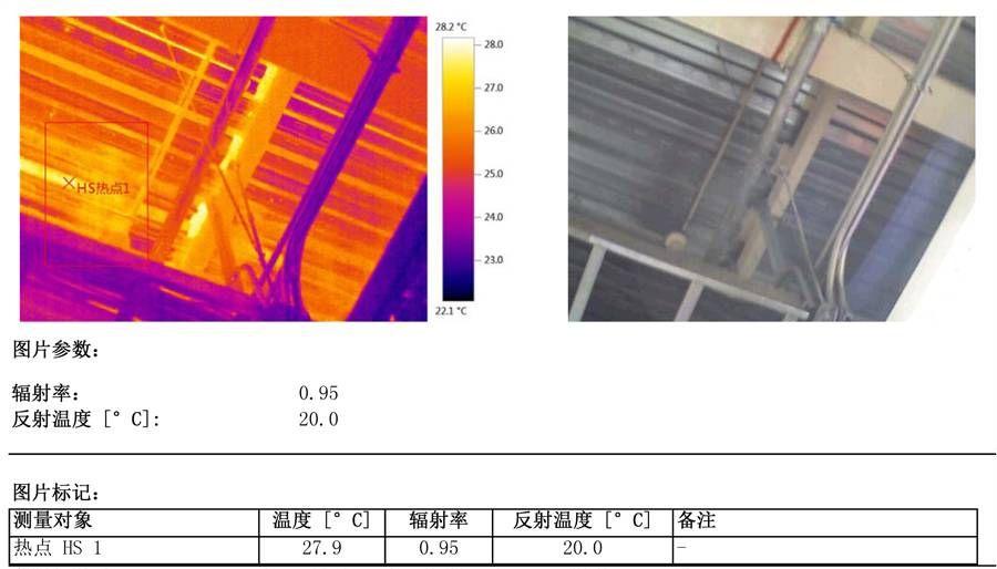 检测2:热图中的区域呈现图片结构差异,明显看出热区扩散,与线性均匀度有差异,建议可进行局部复检