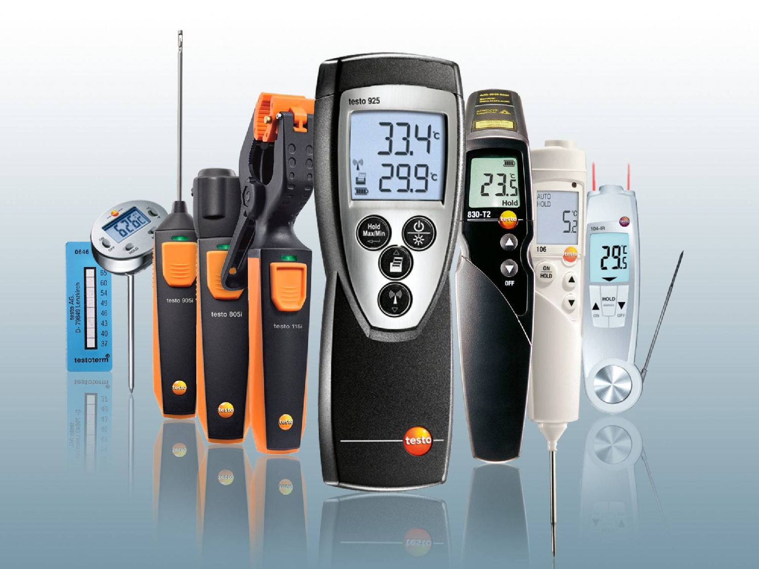 More measuring instruments for temperature measurement from Testo