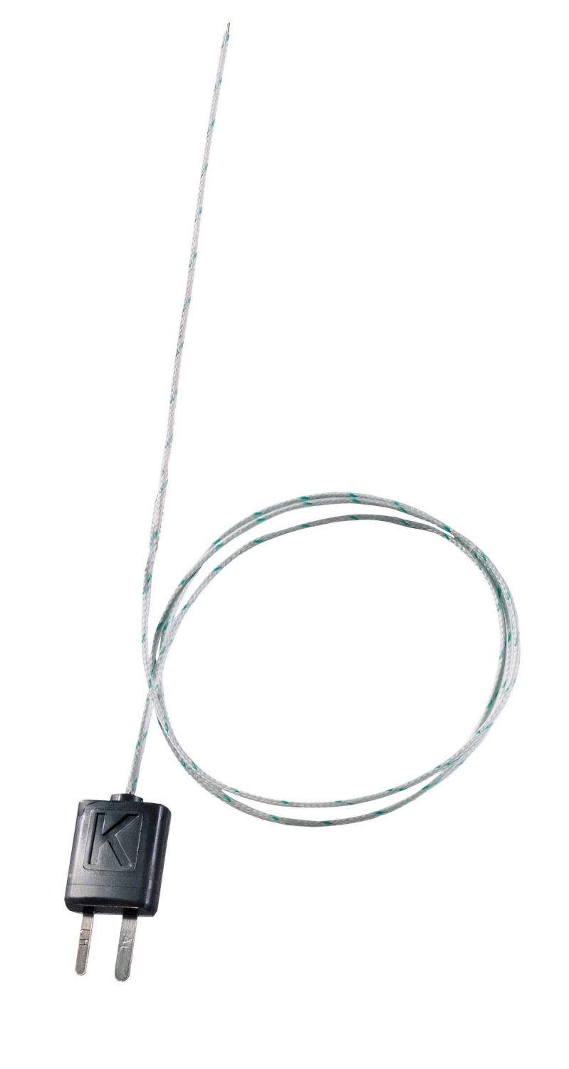 Thermocouple isolé, soie de verre, flexible, long. 800 mm