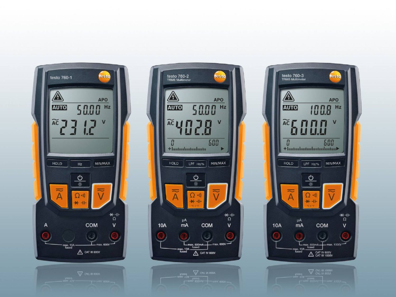 Digital multimeters from Testo