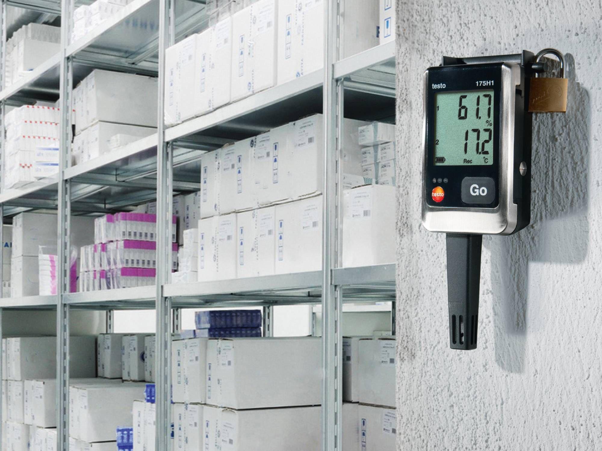 testo 175 H1数据记录仪确保储存药品的IAQ参数都是正确的