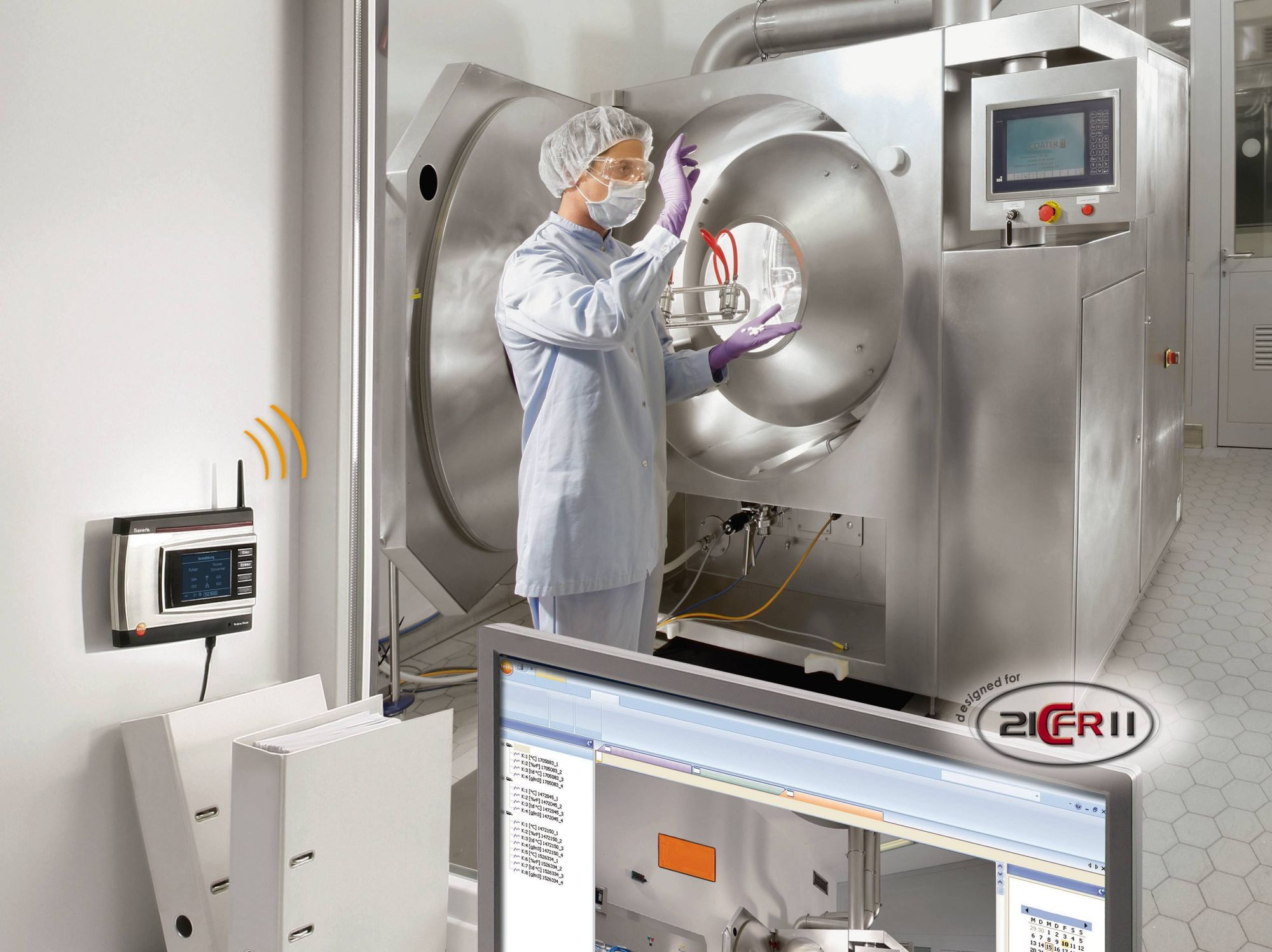 Data logger in the pharmaceutical industry