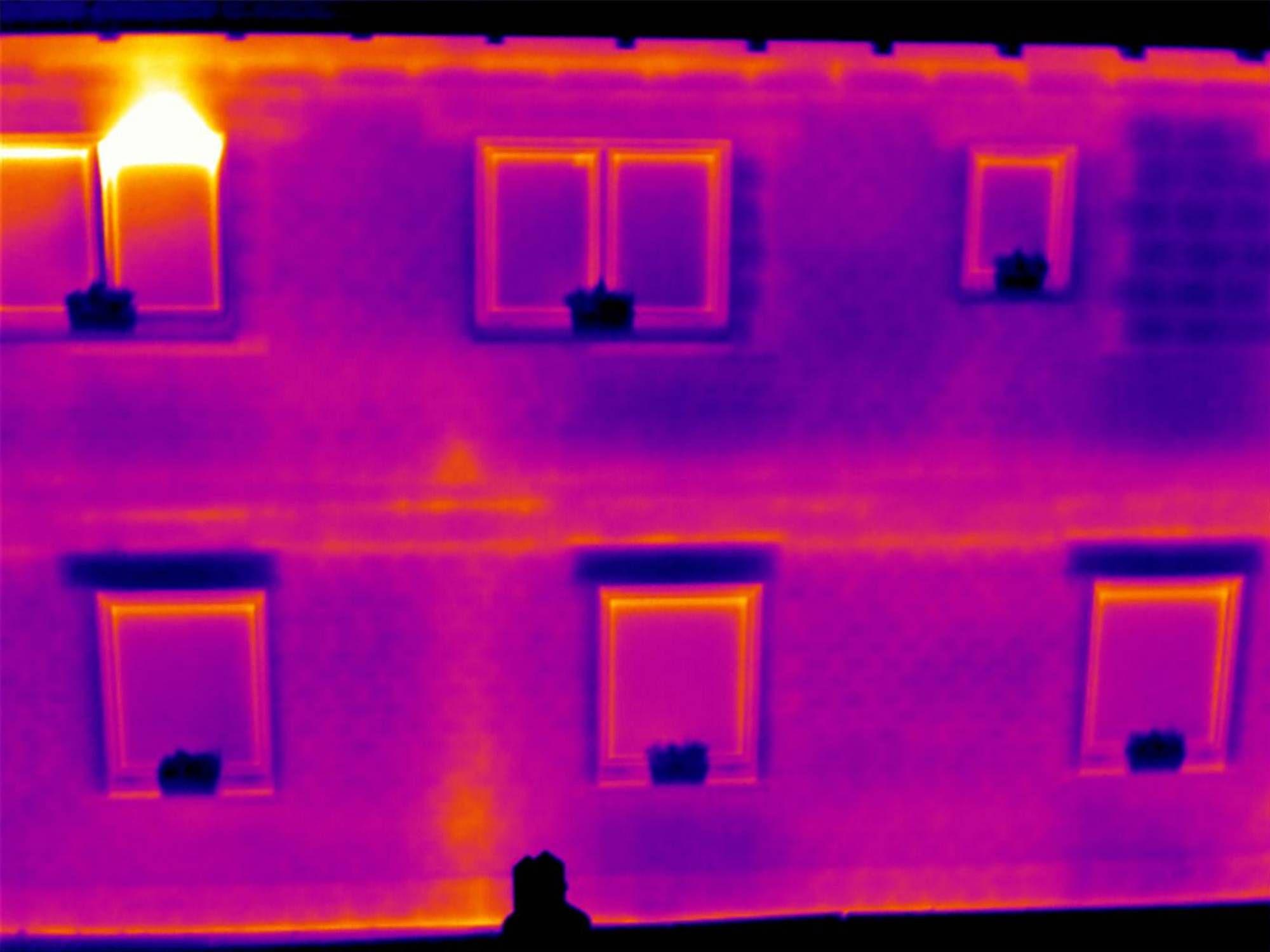 Imagen térmica del edificio