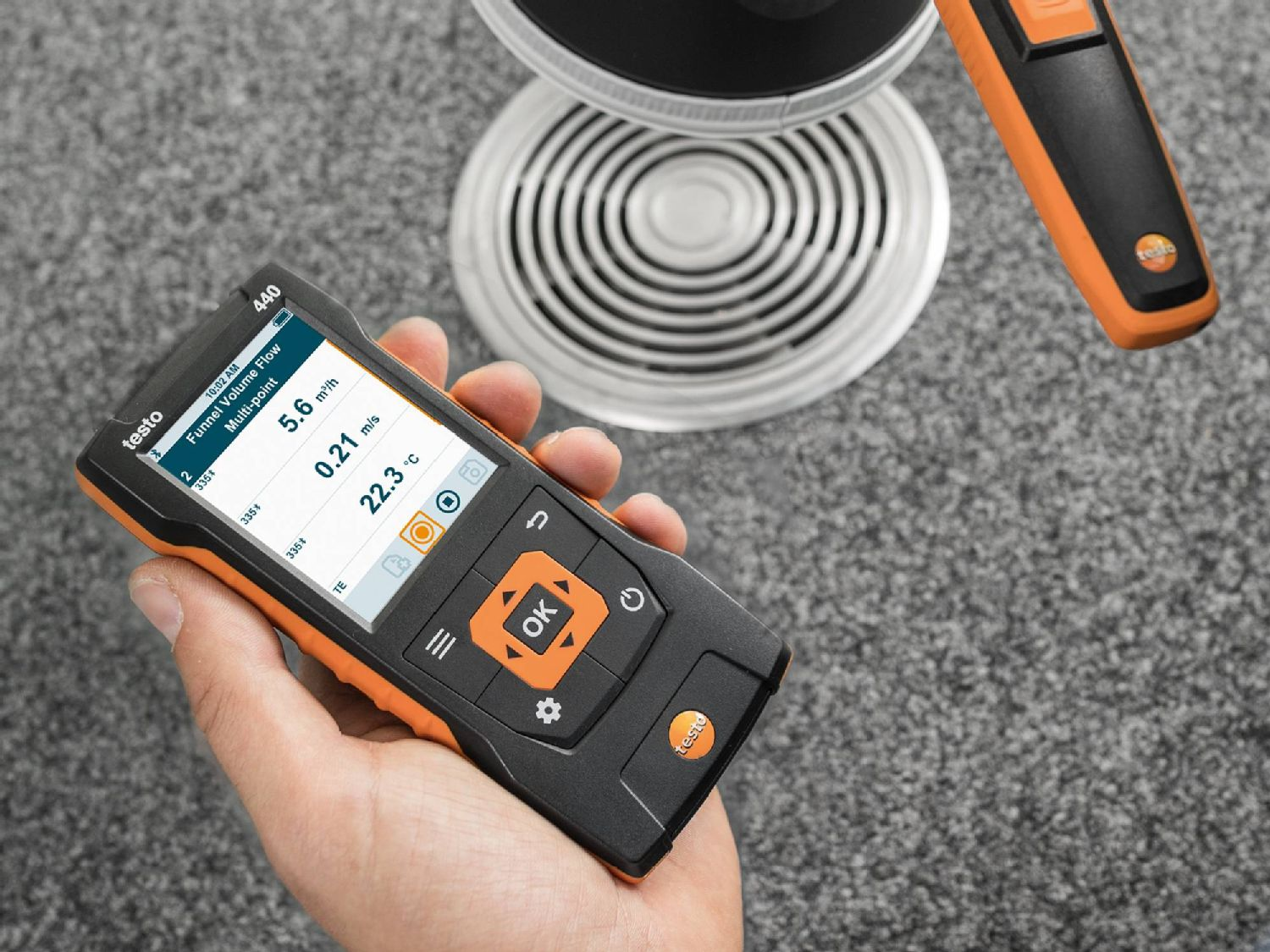 testo 440 intuitive measurement menus
