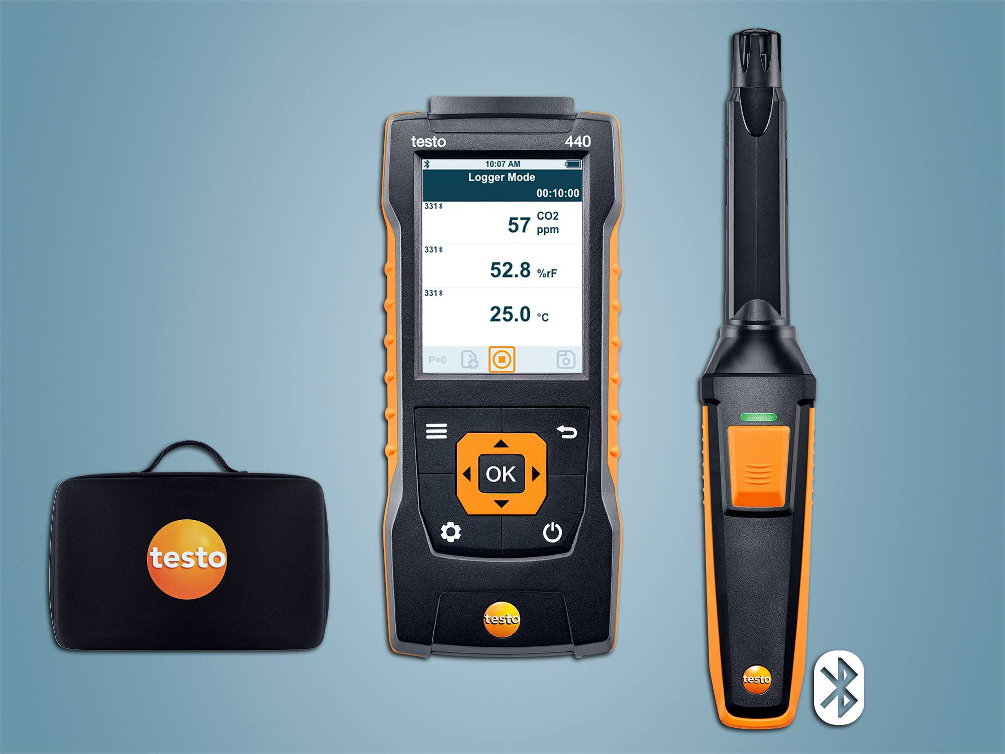testo 440 CO2 Seti, Bluetooth'lu